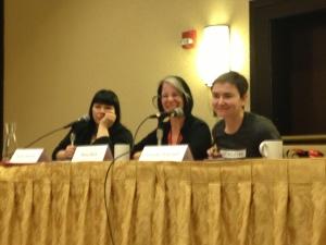 Ducky Doolittle, Metis Black and Jennifer Pritchett at CatalystCon East