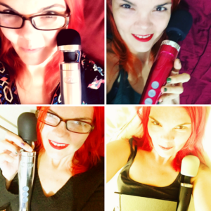 JoEllen posing with 4 different Doxy wands