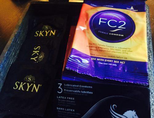 Box of condoms