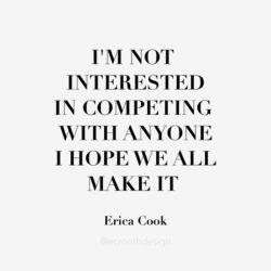 I'm not interested in competing, I hope we all make it