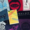 A copy of Vibrator Nation surrounded by sex shop t-shirts