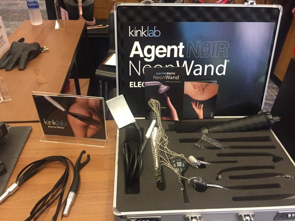Display featuring Neon-Wand, Electro-Whip and a chain flogger attachment I still don't know the name of.