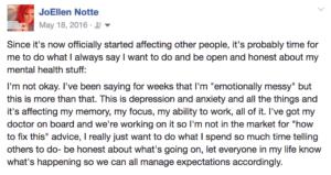 mental health announcement